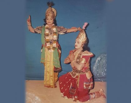Acted the part of 'Krishna' in 'Geethopadesham' (Bhagavadgeetha) at Trivandrum Nishagandhi Auditorium conducted as part of Onam Festival Celebration